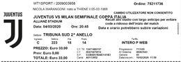 Juventus Milan Coppa Italia 04/03