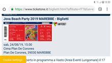 1 biglietto concerto Jovanotti a Plan de Corones 24/8