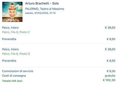 2 biglietti per Arturo Brachetti Solo