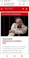 Due biglietti UN NEMICO DEL POPOLO sabato 8/2 allo Strehler