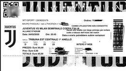 Biglietti Juve Milan coppa Italia
