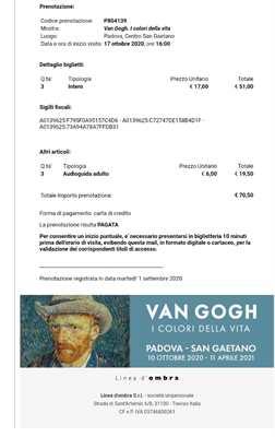 Mostra Van Gogh I Colori della Vita